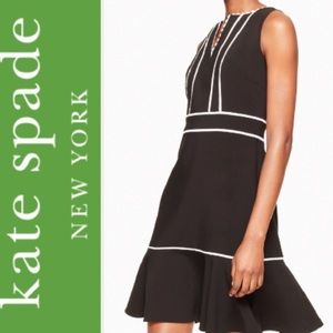 Kate Spade ♠️ Lace Inset Crepe Dress